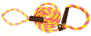 "3/8"" Solid Braid Slip Lead Pink Lemonade"