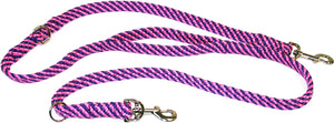 "5/8"" Multi Purpose Leash Pink/Purple Spiral"