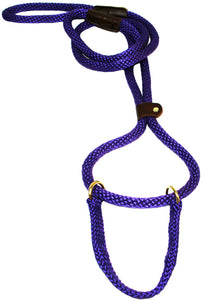 "1/2"" Solid Braid Martingale Style Lead Purple"