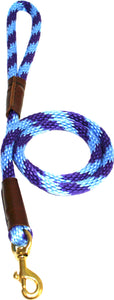 "1/2"" Solid Braid Snap Lead Purple/Sky Blue Spiral"