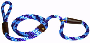 "1/2"" Solid Braid Slip Lead Purple/Sky Blue Spiral"