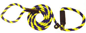 "3/8"" Solid Braid Slip Lead Purple/Yellow  Spiral"