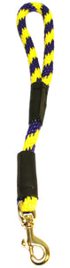 "1/2"" Solid Braid Traffic Lead Purple/Yellow Spiral"