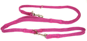 "5/8"" Multi Purpose Leash Raspberry"