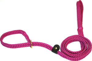 "5/8"" Flat Braid Slip Lead Raspberry"