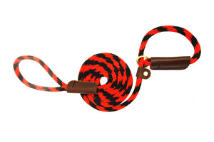 "3/8"" Solid Braid Slip Lead Red/Black Spiral"