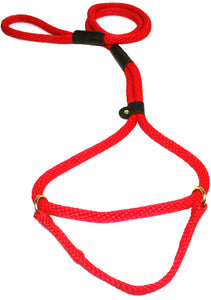 "1/2"" Solid Braid Martingale Style Lead Red"