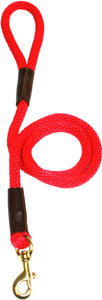 "1/2"" Solid Braid Snap Lead Red"