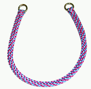 "1/4"" Professional Show Collar Raspberry/Sky Blue"