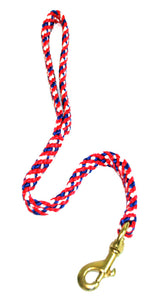 "5/8"" Flat Braid Traffic Lead Red/White/Blue"
