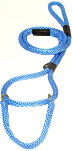 "1/2"" Solid Braid Martingale Style Lead Sky Blue"
