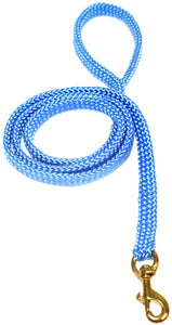 "5/8"" Flat Braid Snap Lead Sky Blue"