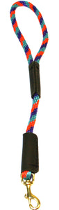 "3/8"" Solid Braid Traffic Lead Teal/Purple/Orange Spiral"