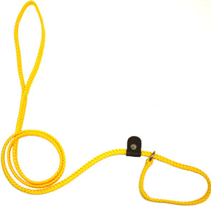 "1/4"" Flat Braid Slip Lead Yellow"