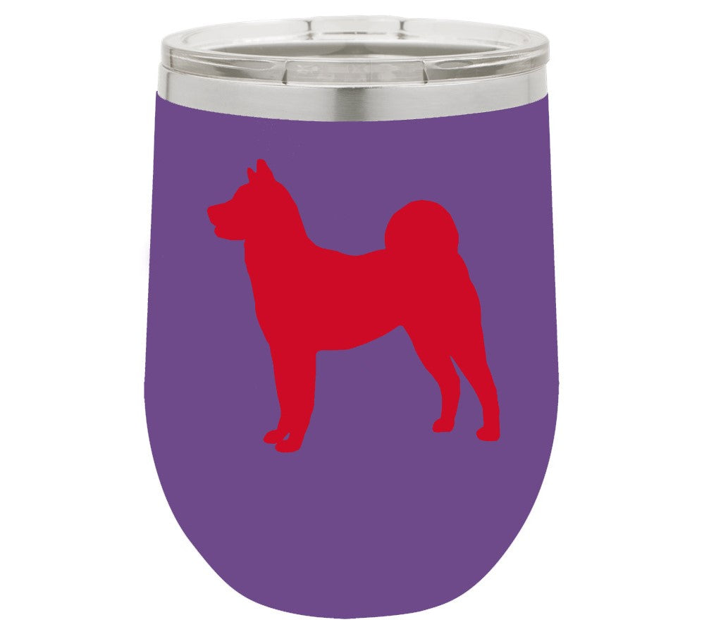 Akita 12 Oz Vacuum Insulated Stemless Wine Glass The Leash Outlet
