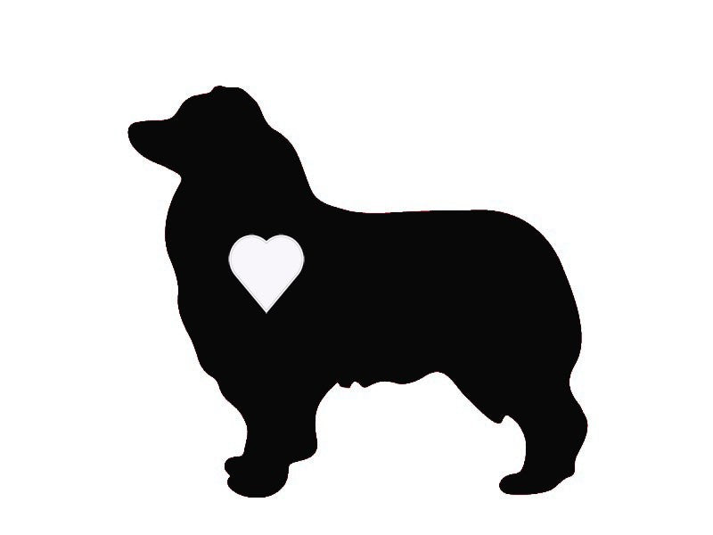 Heart Australian Shepherd Dog Decal