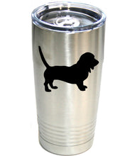 Load image into Gallery viewer, Bassett Hound  20 oz.  Ring-Neck Vacuum Insulated Tumbler