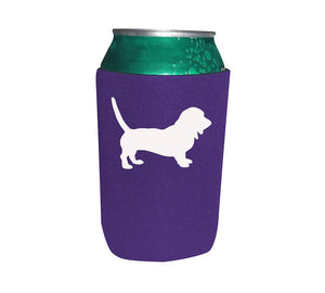Bassett Hound Koozie Beer or Beverage Holder