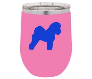 Bichon Frise 12 oz Vacuum Insulated Stemless Wine Glass