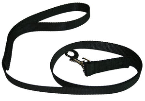Webbing Dog Leash Black