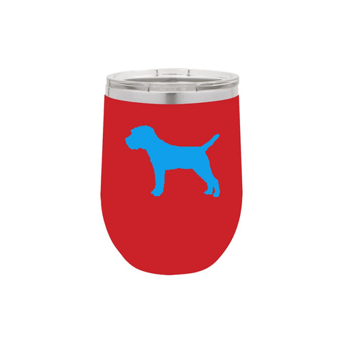 Border Terrier 12 oz Vacuum Insulated Stemless Wine Glass