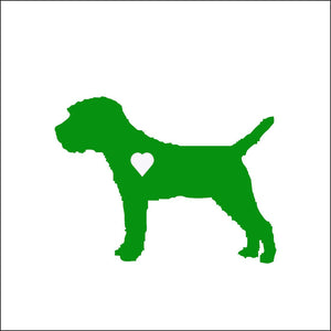 Heart Border Terrier Dog Decal