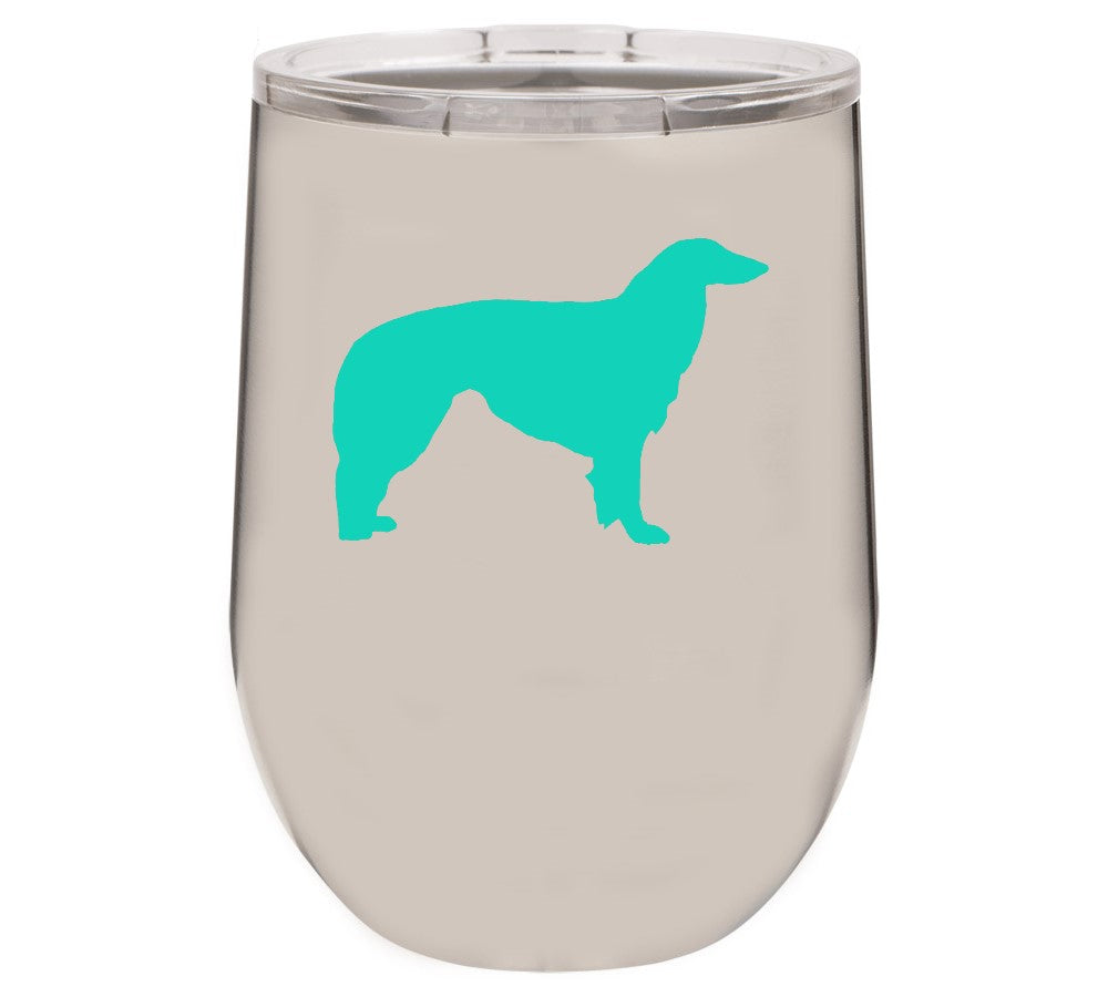 Borzoi 12 oz Vacuum Insulated Stemless Wine Glass