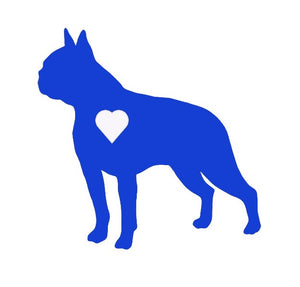 Heart Boston Terrier Dog Decal