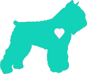Heart Bouvier Dog Decal