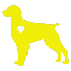 Heart Brittany Spaniel Dog Decal