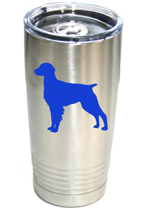 Brittany Spaniel 20 oz.  Ring-Neck Vacuum Insulated Tumbler