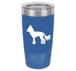 Chinese Crested  20 oz.  Ring-Neck Vacuum Insulated Tumbler