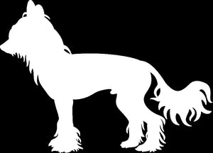 Chinese Crested Dog Decal