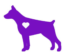 Load image into Gallery viewer, Heart Doberman Pinscher Dog Decal