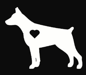 Heart Doberman Pinscher Dog Decal
