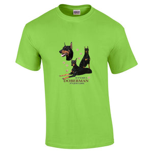 """Just A Dog""  Breed T Shirt Doberman"