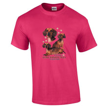 "Load image into Gallery viewer, ""Just A Dog""  Breed T Shirt Dachshund"