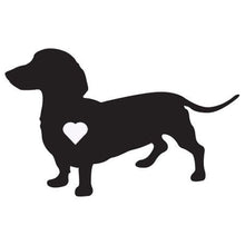 Load image into Gallery viewer, Heart Dachshund Dog Decal