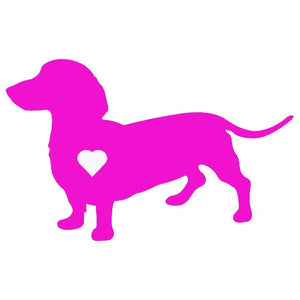 Heart Dachshund Dog Decal