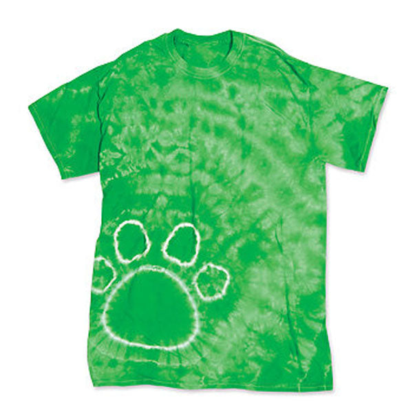 Tie-Dye Paw Print T Shirt Kelly Green