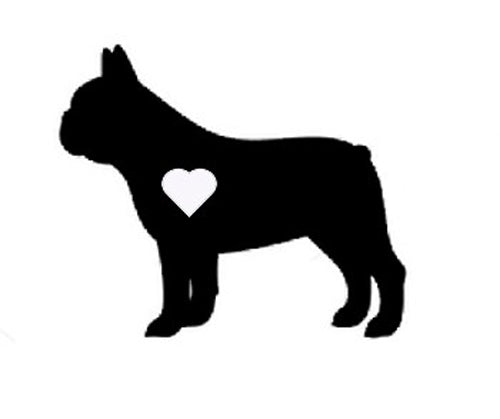 Heart French Bulldog Decal