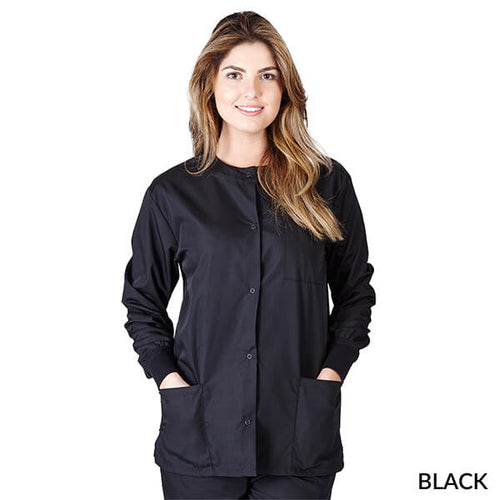 Black  Warm Up Scrub Jacket      Have it Personalized