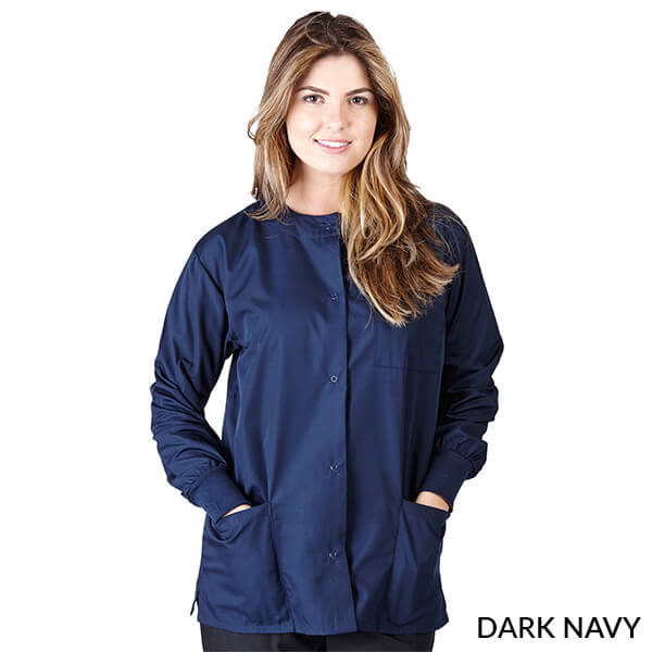 Dark Navy Blue Warm Up Scrub Jacket      Have it Personalized