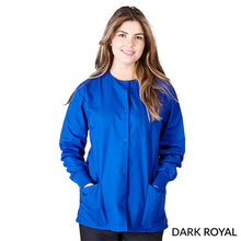 Load image into Gallery viewer, Dark Royal Blue Warm Up Scrub Jacket      Have it Personalized