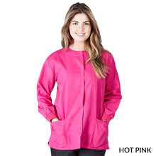 Load image into Gallery viewer, Hot Pink  Warm Up Scrub Jacket      Have it Personalized