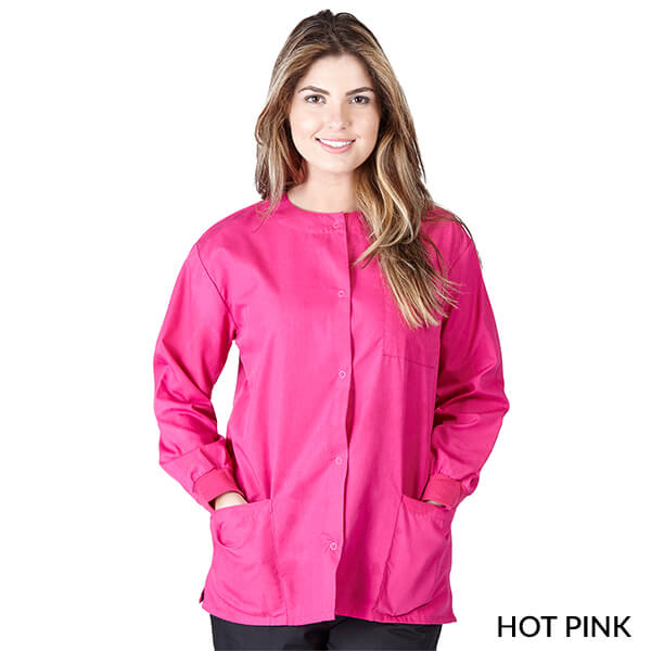 Hot Pink  Warm Up Scrub Jacket      Have it Personalized