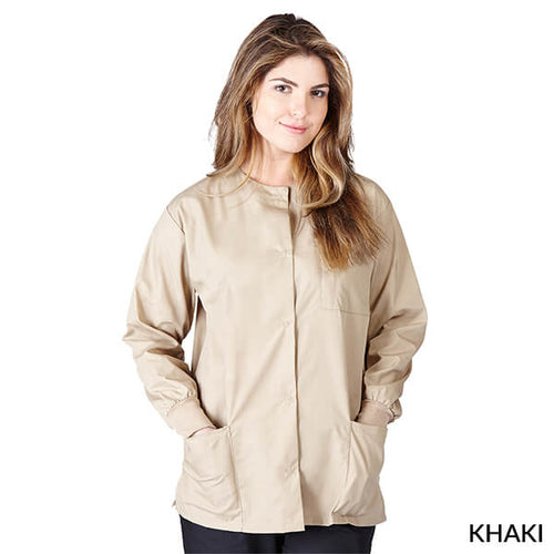Khaki  Warm Up Scrub Jacket      Have it Personalized