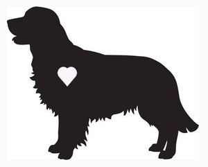 Heart Golden Retriever Dog Decal