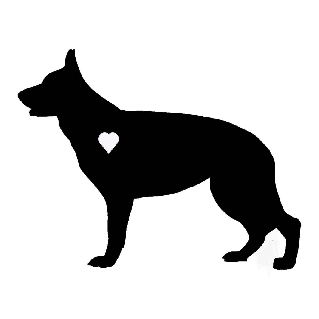 Heart German Shepherd Dog Decal