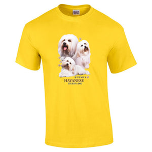 """Just A Dog""  Breed T Shirt Havanese"